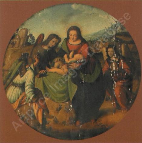Vierge à l'enfant entourée d'anges par PIERO DI COSIMO