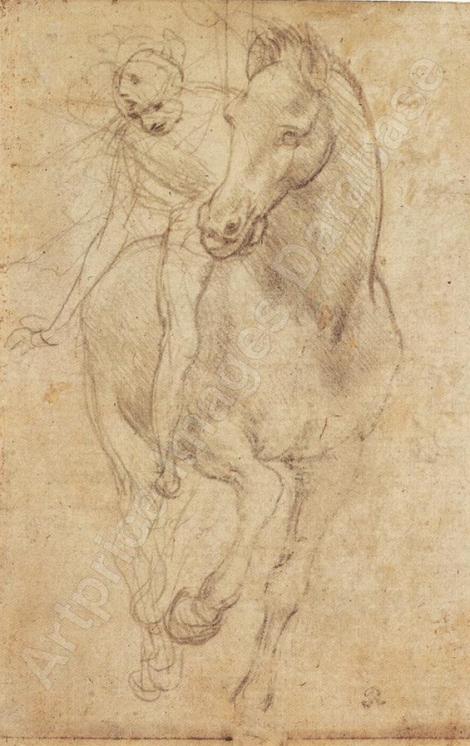 leonard de vinci Horse and rider