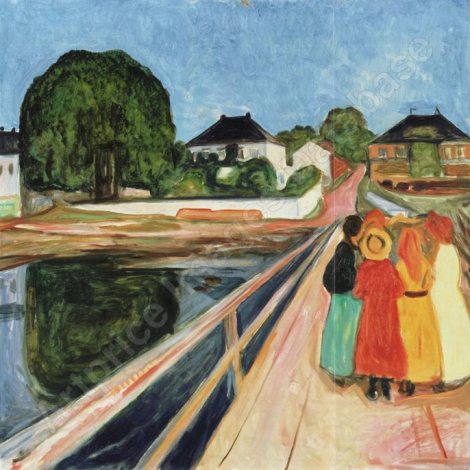 Girls on a Bridge par Edvard Munch