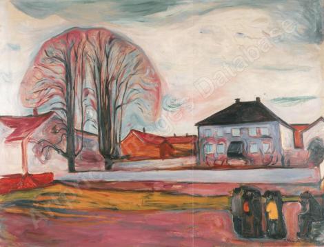 Haus in Asgaardstrand par Edvard Munch