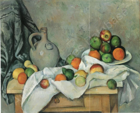Rideau, cruchon et compotier cézanne