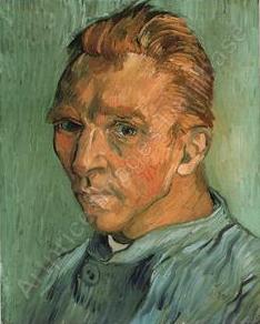 van gogh Portrait de l'artiste sans barbe