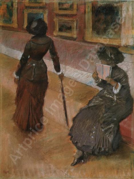 Au musée du Louvre (Miss Cassatt) par Edgar DEGAS