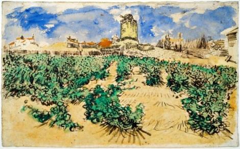 Van Gogh - Moulin d'Alphonse (1888) - 30.2 * 49 cm