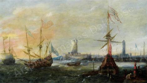 Marine vor einem fremden Hafen