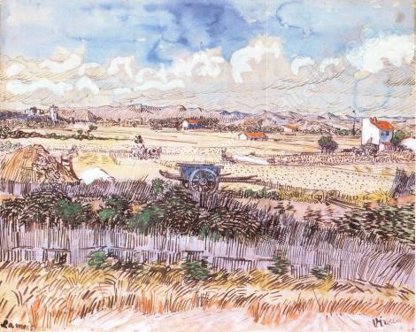 Van Gogh - Moisson en Provence - (1888) – 50.5 * 61 cm
