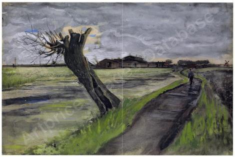 Van Gogh - Pollard Willow (1882) -37.7 * 56.2 cm