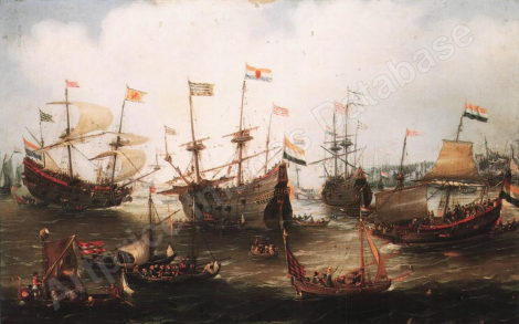 The return to Amsterdam of the Fleet of the Dutch East India Company
