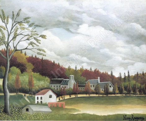 Vue de la Bièvre-sur-Gentilly rousseau