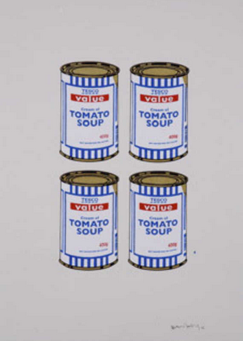 BANKSY - Four Soup Can (Gold)