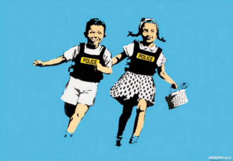 BANKSY - Jack and Jill (AKA Police Kids)