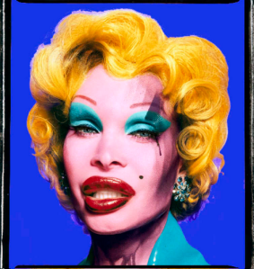 David LACHAPELLE - Amanda as Andy Warhol's Marilyn (Blue), 2007