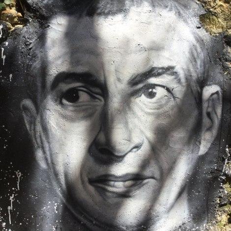 Maurizio Cattelan portrait peint à la Demeure du Chaos Musée d'Art Contemporain et siège social d'Artprice