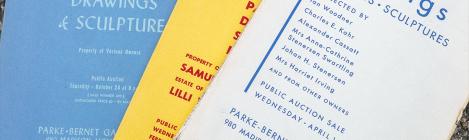Catalogues des ventes de Parke-Bernet Galleries - Archives Artprice